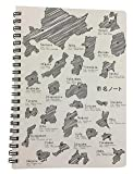 雑学罫線ノート 市名 A5【黒】