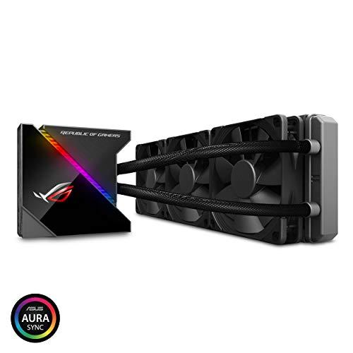 ASUSTek オールインワン型水冷 ユニット CPUクーラー ROG RYUJIN 360 / color OLED/Aura Sync RGB/120mm 口径 360mmサイズ ラジエーターファン B07JHX169J 1枚目