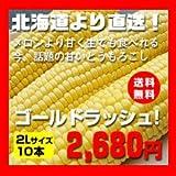 【先行予約】北海道産とうもろこし ゴールドラッシュ(2L×10本)