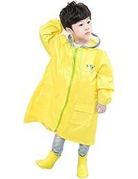 ベビーポンチョ、キッズレインコート子供レインウェア防水防寒ベビー雨具 イェロー XL/115-130cm
