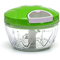 Antech手動Food ChopperプロセッサーPull & Hand Held Vegetable Chopper/Blender with 3 Blades – Chop野菜、果物、ハーブ、玉ねぎ、Mincers
