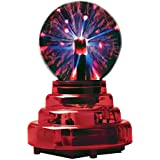 MDI Australia Battery Operated 7.5 cm (3 inches) Portable Plasma Ball with Translucent Red Base