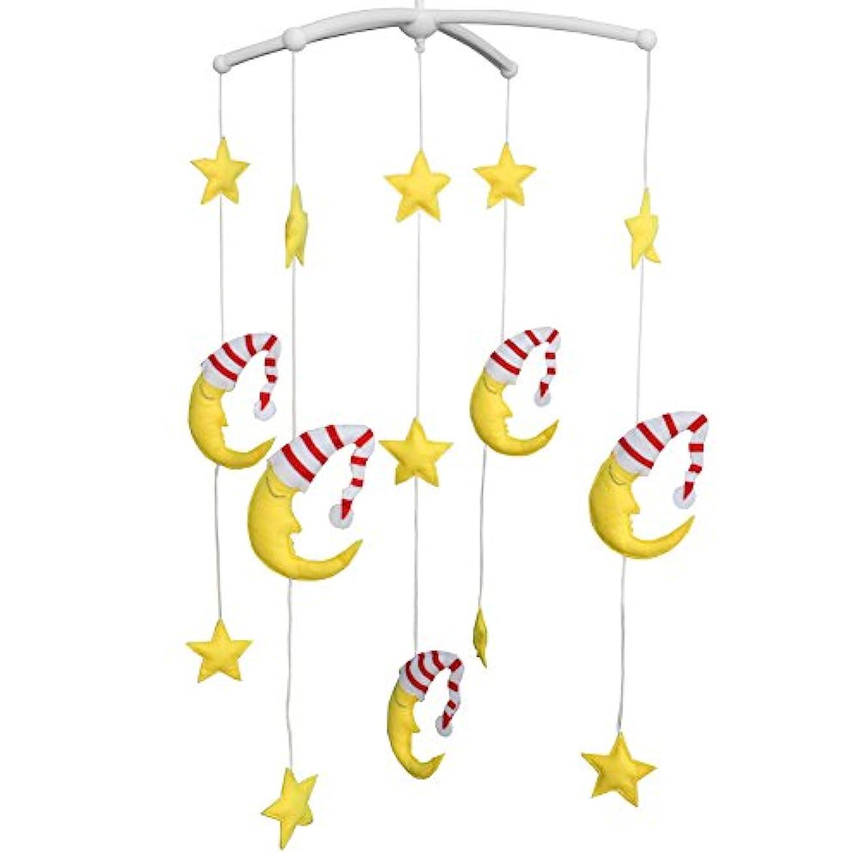 同意香ばしいピックベビーベッドの装飾教育玩具保育園の装飾デザインハンドステッチ新生児ギフト子守歌ミュージカルモバイル-C06