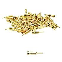 メタルパーツ バーニア芯 銃口 ディティール ガンプラ プラモデル 改造パーツ (金色)