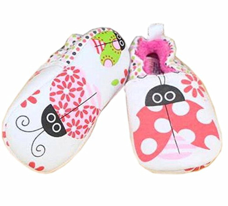 ベビーファーストウォーカーソフトソールコットン幼児の靴プラスベルベットレッド