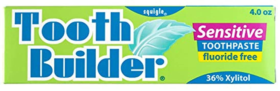 フォアマン樫の木シルエットSquigle Tooth Builder Sensitive Toothpaste (4 Oz) by Khun Yod Inter