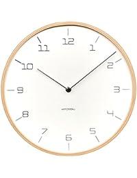 KATOMOKU plywood wall clock 7 ナチュラル スイープ(連続秒針ムーブメント) km-71N φ304mm