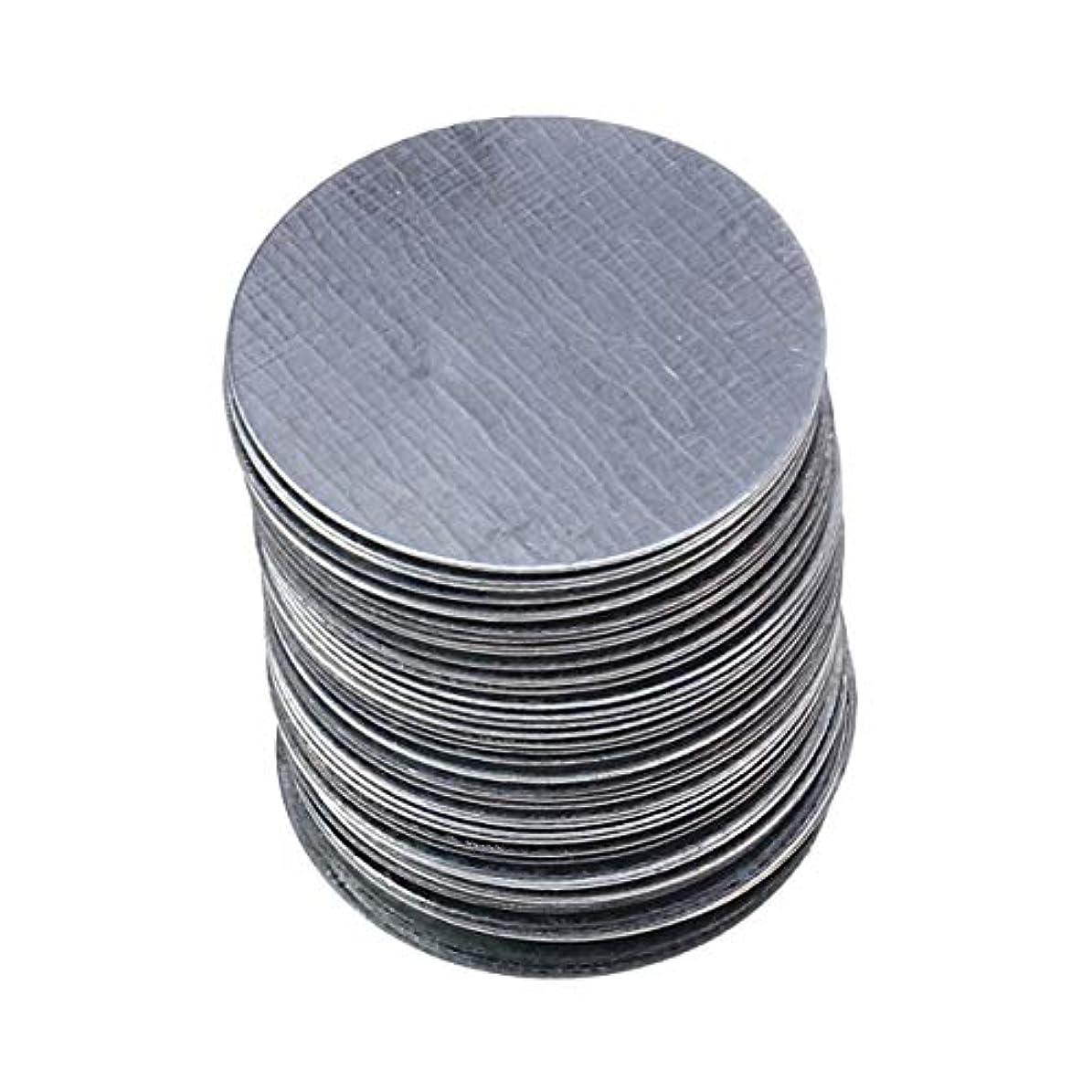 Lurrose 非磁気アイシャドウパンメイクアップパレットの使用のための100ピースラウンド金属ステッカー