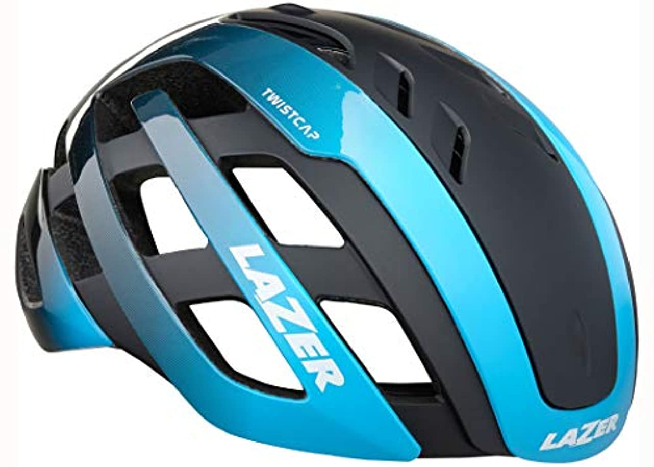 ぼかし明日コミットLAZER(レイザー) CENTURY AF (センチュリー アジアンフィット) ロードヘルメット [ブルーブラック]