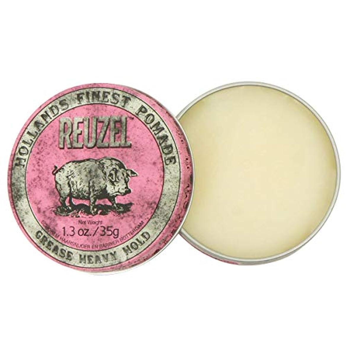 ボタン一般的にビールルーゾー ピンク ヘヴィーホールド ポマード Reuzel Pink Heavy Hold Grease pomade 35 g [並行輸入品]