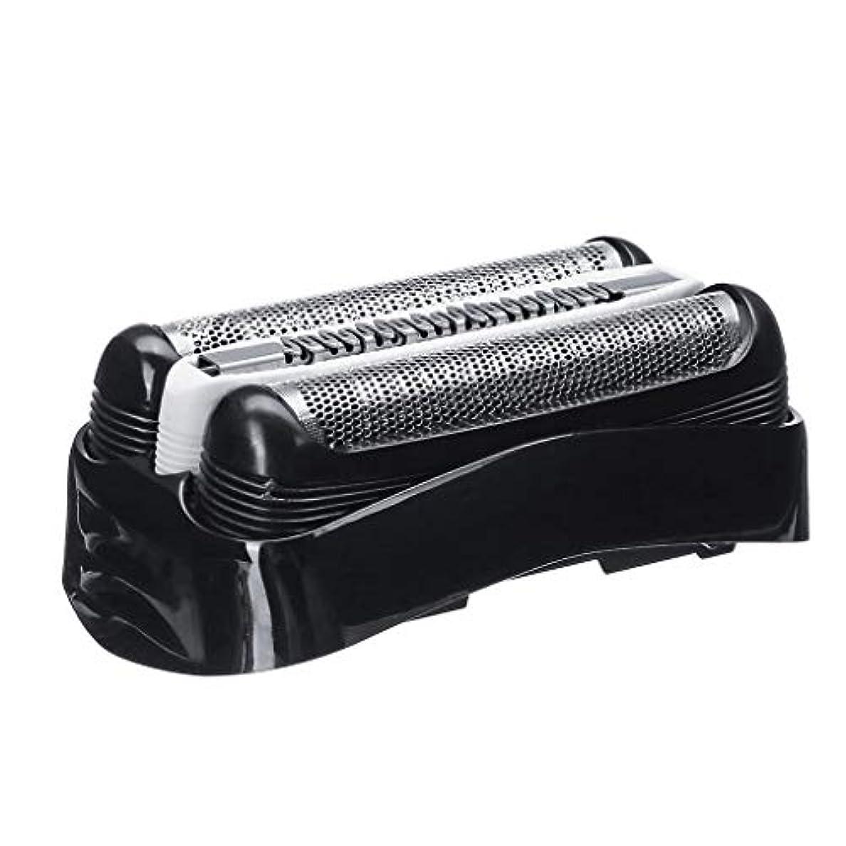 岩公平モデレータシェーバー替刃 シェーバー フォイル メンズシェーバー用 替刃 シリーズ3 互換品 電気シェーバー交換ヘッドカミソリアクセサリ (ブラック)