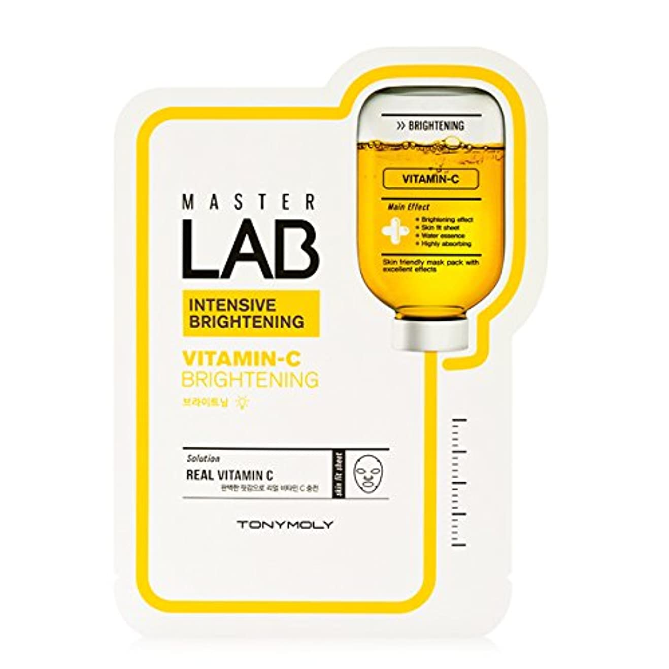 ねばねばの間にコーナー[New] TONYMOLY Master LAB Mask Sheet 19g×5ea/トニーモリー マスター ラブ マスクシート 19g×5枚 (#Vitamin-C:Brightening)
