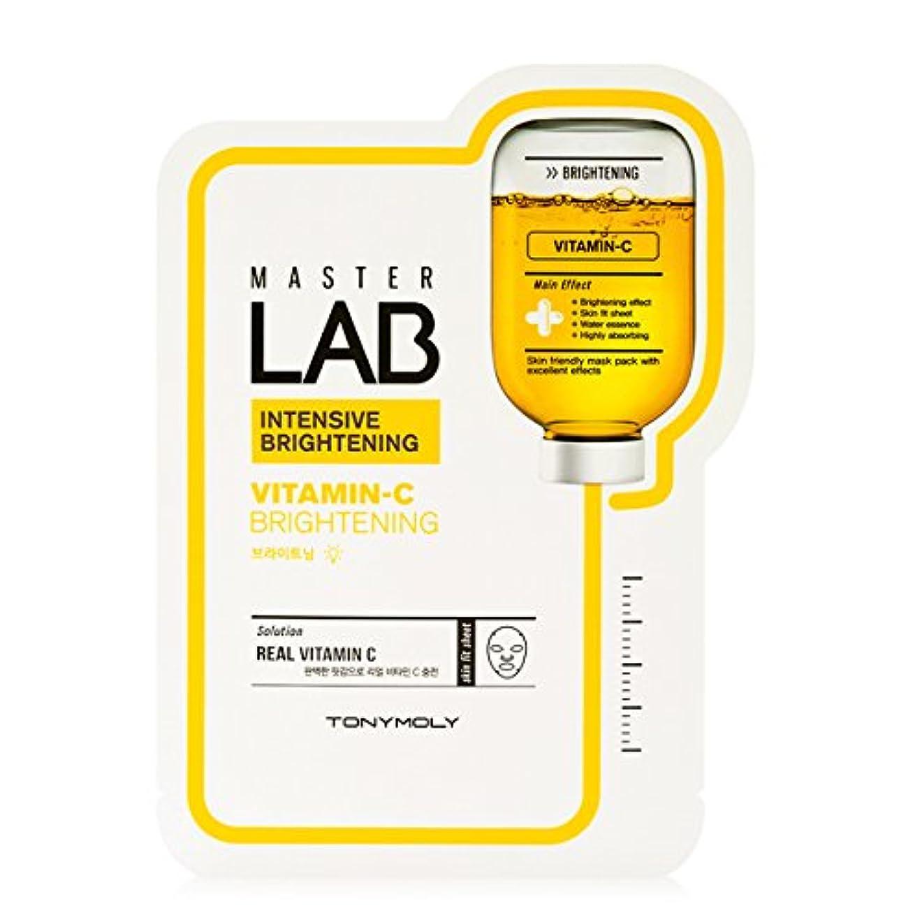 [New] TONYMOLY Master LAB Mask Sheet 19g×5ea/トニーモリー マスター ラブ マスクシート 19g×5枚 (#Vitamin-C:Brightening)