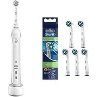 【セット買い】ブラウン オーラルB 電動歯ブラシ PRO2000 ホワイト + 替えブラシ マルチアクションブラシ(5本入)