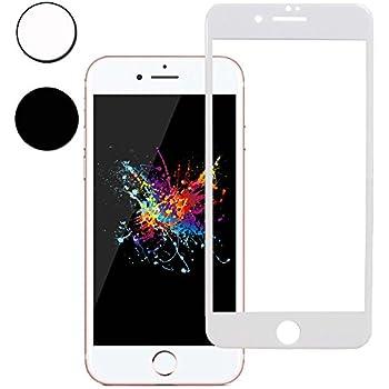 iPhone8 フィルム,【世界最強の3D ゴリラガラス】 iPhone 8 アイフォン 8 ガラスフィルム アイフォン8 強化ガラス 全面保護フィルム ANISYO アメリカ素材製/高精細/硬度9H+(iPhone 8,ホワイト)