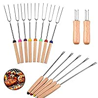 Telescoping Smores Skewers for Smores and Hot Dog Fire Pit Camping Cookware Campfire Cooking [並行輸入品]