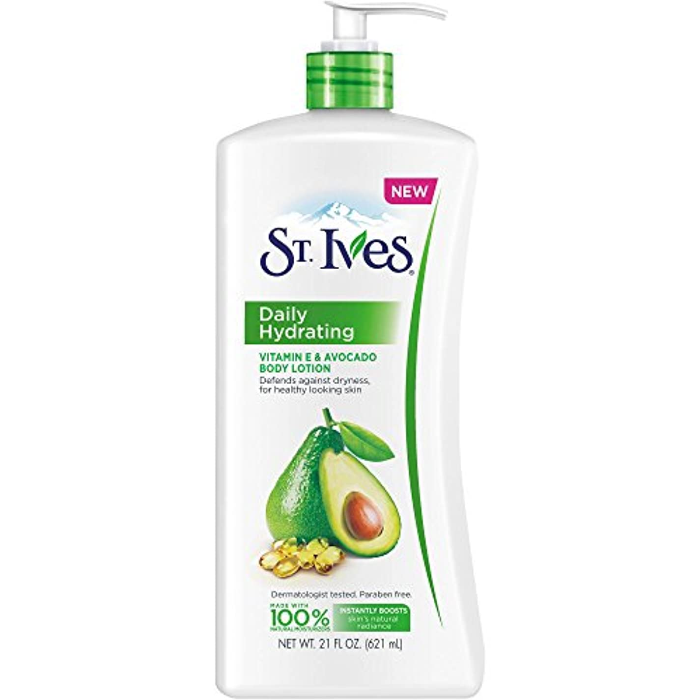 確かなシェーバーダウンタウンSt. Ives Daily Hydrating Vitamin E and Avocado Body Lotion [並行輸入品]
