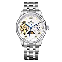 QTMIAO 美しいTEVISE時計 TEVISEファッションメンズ腕時計の腕時計ステンレススチール機械時計腕時計 (Color : 3)