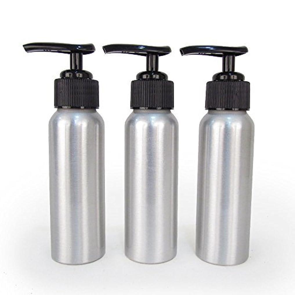 郵便屋さん対称ちょうつがいSet of 3 - Slender Brushed Aluminum 2.7 oz Pump Bottle for Essential Oil Products by Rivertree Life [並行輸入品]