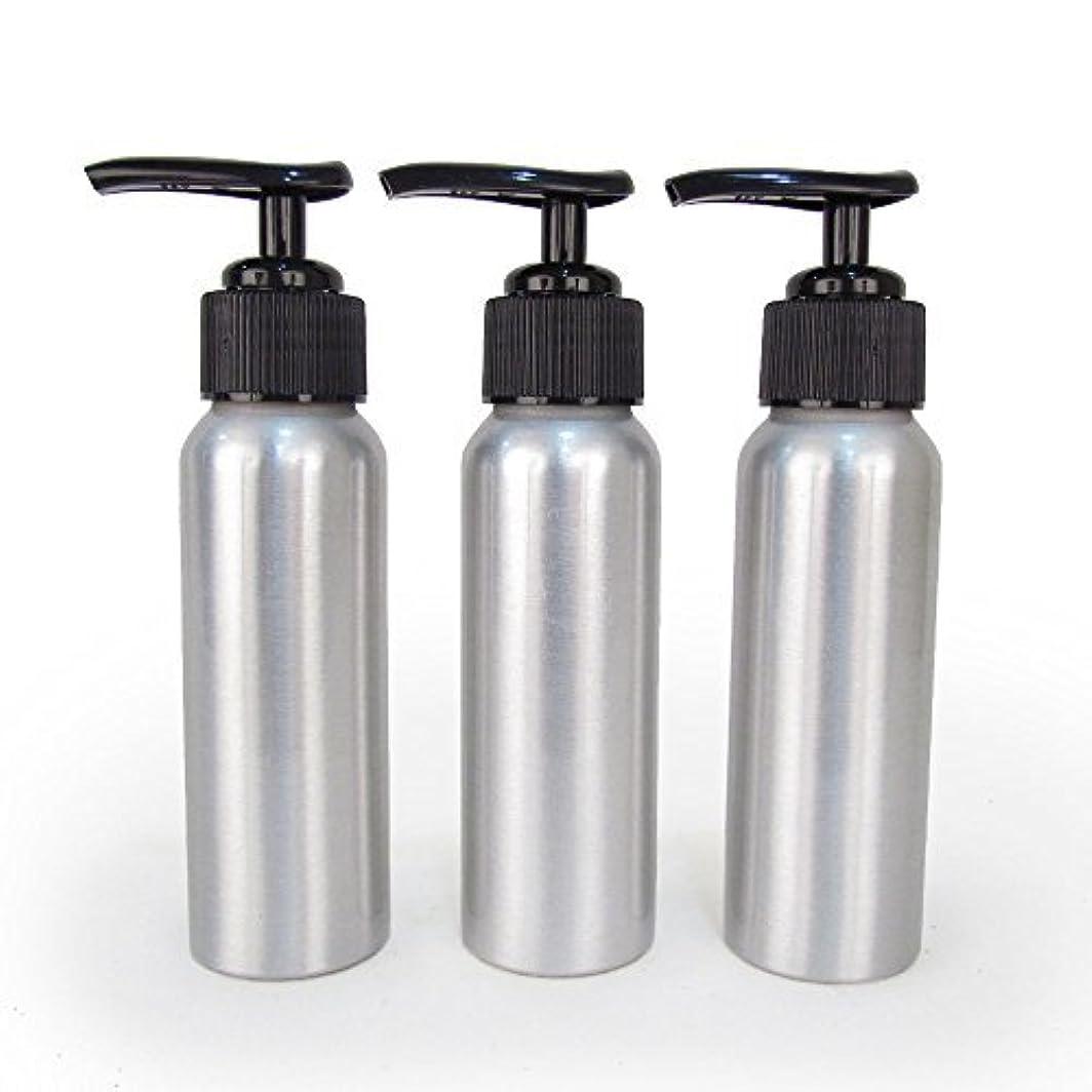 ウォルターカニンガム裏切りチーターSet of 3 - Slender Brushed Aluminum 2.7 oz Pump Bottle for Essential Oil Products by Rivertree Life [並行輸入品]