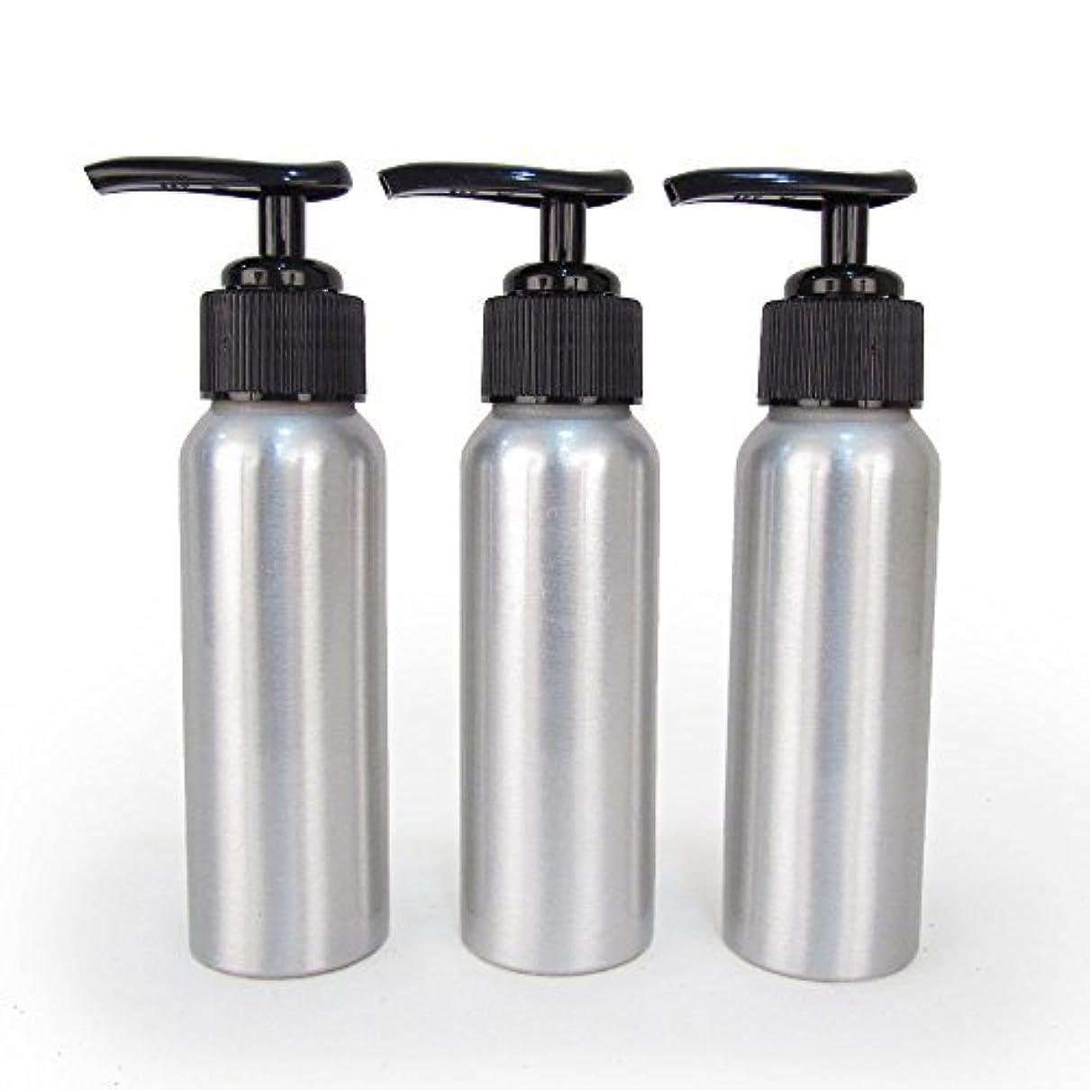 気取らないコンプライアンスはさみSet of 3 - Slender Brushed Aluminum 2.7 oz Pump Bottle for Essential Oil Products by Rivertree Life [並行輸入品]