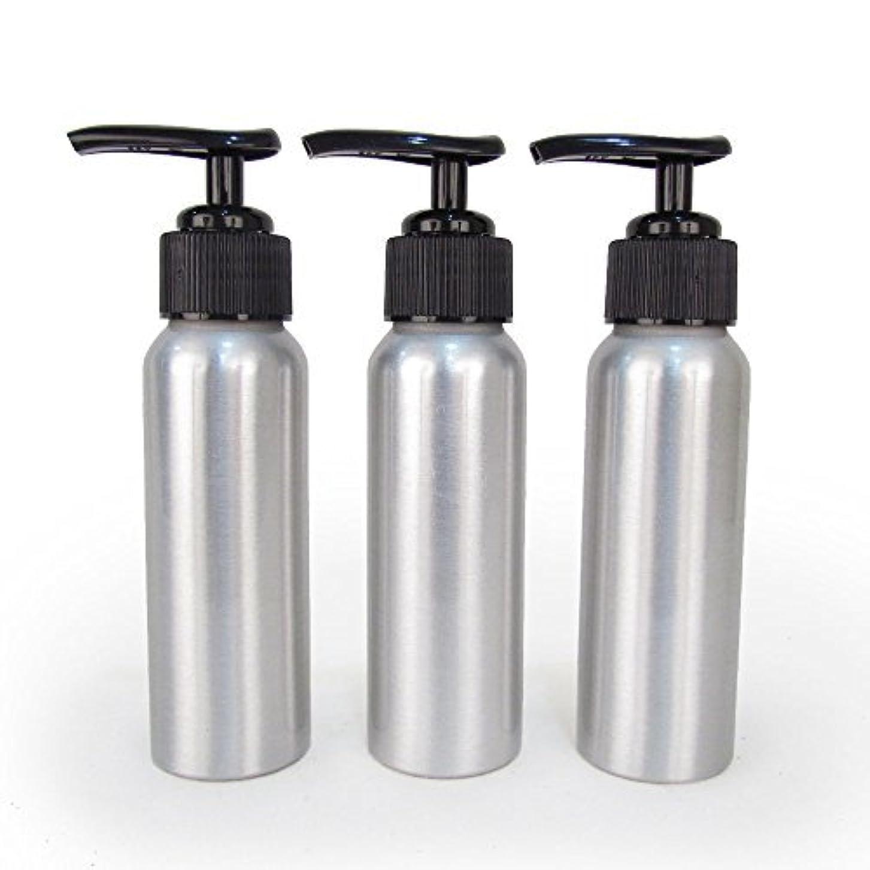 よく話される胚芽セクタSet of 3 - Slender Brushed Aluminum 2.7 oz Pump Bottle for Essential Oil Products by Rivertree Life [並行輸入品]