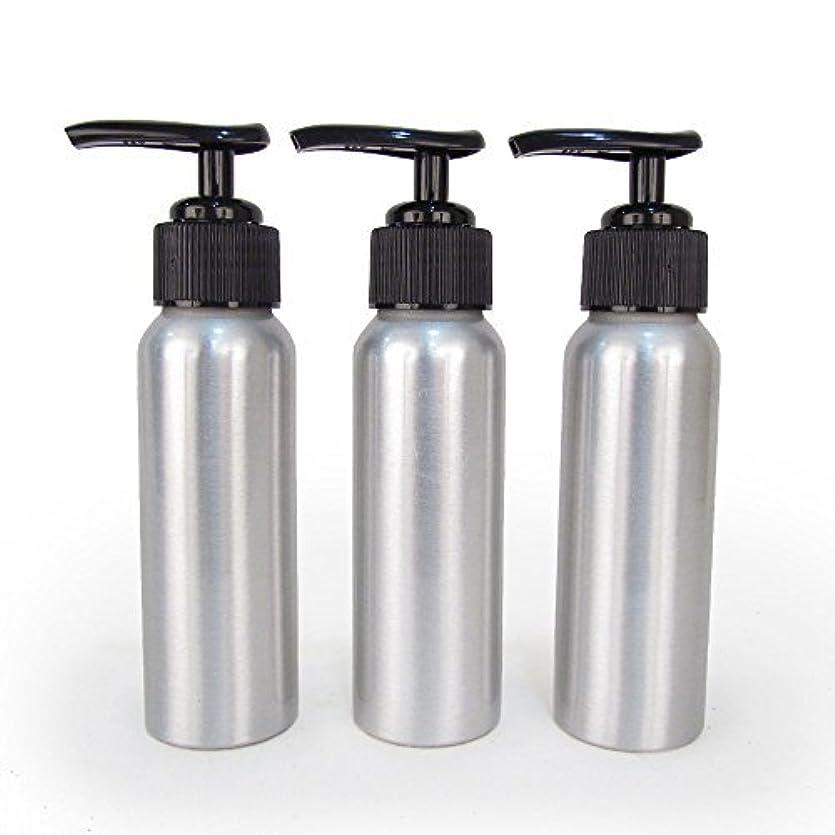 染料試験なぞらえるSet of 3 - Slender Brushed Aluminum 2.7 oz Pump Bottle for Essential Oil Products by Rivertree Life [並行輸入品]