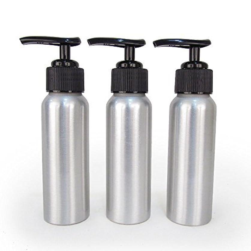 法律渇き百万Set of 3 - Slender Brushed Aluminum 2.7 oz Pump Bottle for Essential Oil Products by Rivertree Life [並行輸入品]
