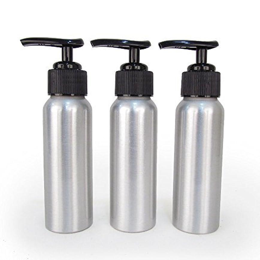 失う魂老人Set of 3 - Slender Brushed Aluminum 2.7 oz Pump Bottle for Essential Oil Products by Rivertree Life [並行輸入品]