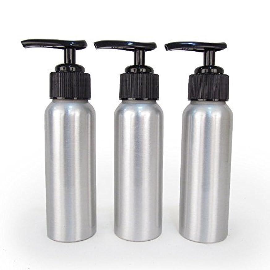 書き出す変更可能相関するSet of 3 - Slender Brushed Aluminum 2.7 oz Pump Bottle for Essential Oil Products by Rivertree Life [並行輸入品]