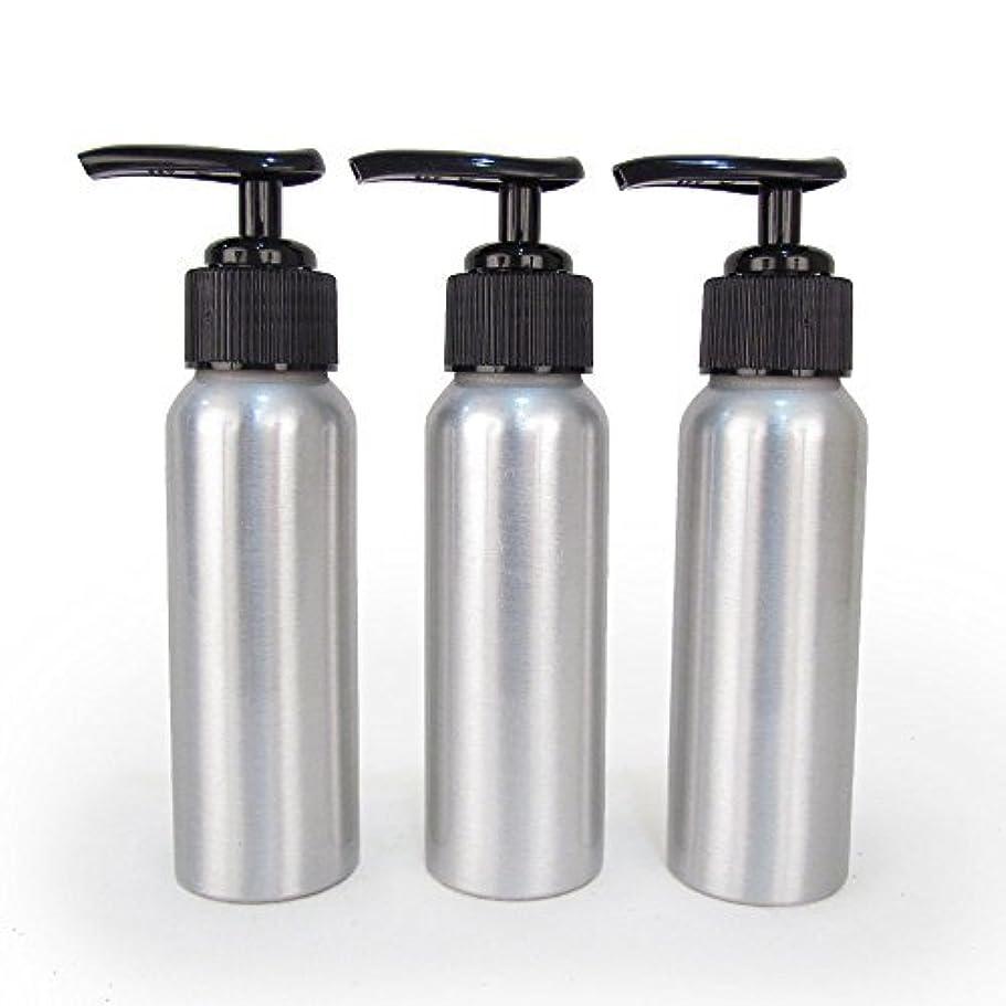柔らかさパンフレット細分化するSet of 3 - Slender Brushed Aluminum 2.7 oz Pump Bottle for Essential Oil Products by Rivertree Life [並行輸入品]