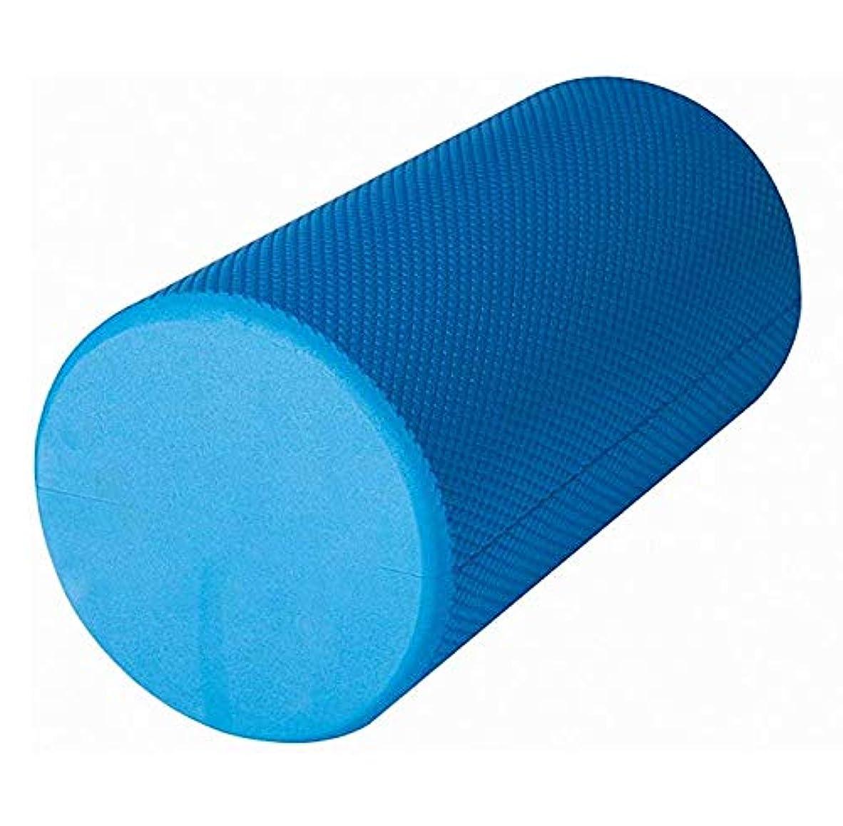 手段共感する膨らませるフォームローラー、ディープティシューマッスルマッサージ用バックローラー-ブルー,Blue -30x15cm