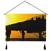 FAKAINUタペストリー F18スーパーホーネットの準備は航空機を打ちます 壁掛けポスター おしゃれ インテリア モダン 多機能 お店 壁や窓の飾り 個性ギフト 新居祝い