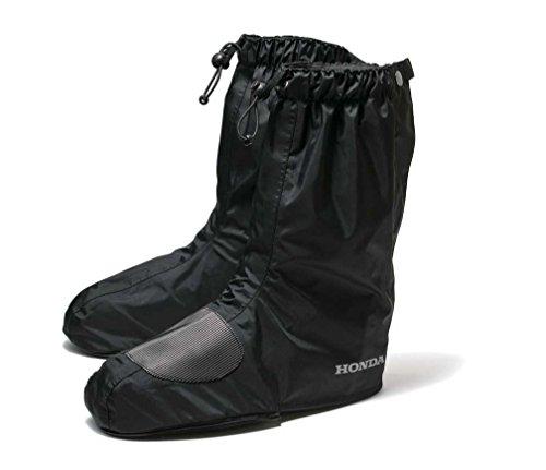 HONDA(ホンダ) バイク用レインブーツカバー ブラック Lサイズ 0SYTN-T43-KL