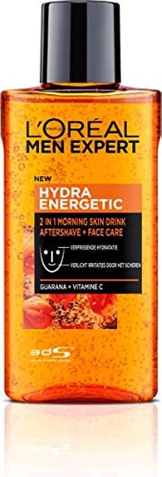 リテラシー一部汚染されたロレアル Men Expert Hydra Energetic 2-In-1 Aftershave + Facecare 125ml/4.2oz並行輸入品