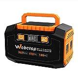 Webetop ポータブル電源 167Wh 大容量 AC DC USB出力 家庭用蓄電池 充電方法三つ ソーラーパネル充電可能 地震 停電時に 車中泊 キャンプに役たつ