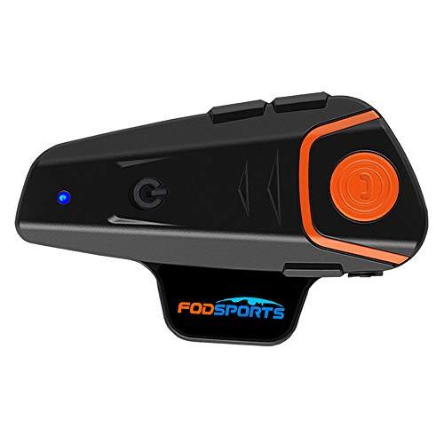 FODSPORTS インカム バイク Bluetooth 防水 インターコム 強化版 ワイヤレス バイク通信機 1000m 3人同時通話 FMラジオ機能付き ワイヤレスインカム ツーリング 技適マーク認定取り済み (ハードタイプ 1台)