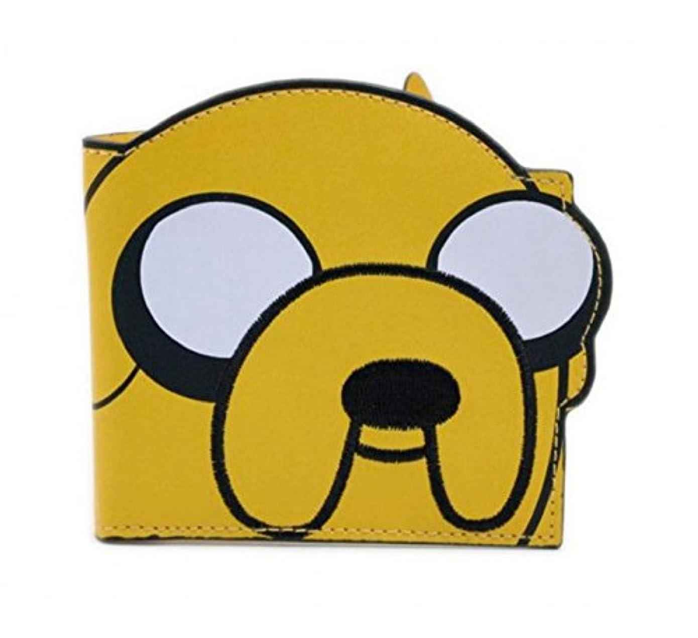 大型トラックリンケージ束Adventure Time 財布 Diecut Jake face 新しい 公式 イエロー Bifold