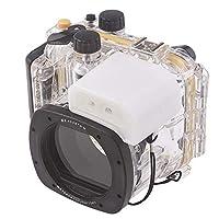 Market&YCY 40m / 130フィート 防水ハウジングダイビングハード保護ケース Canon G15用