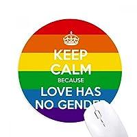 Rainbow Gay Lesbian LGBTラウンドノンスリップゴムマウスパッドゲームOfficeマウスパッドギフト