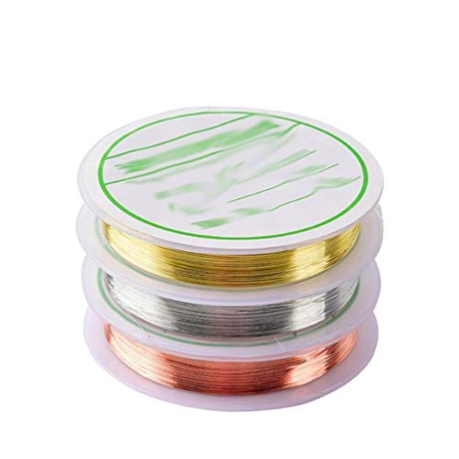 シュリンクドラマ半島Frcolor 3ロール ネイルアート マニキュア オーナメント ネイルラインテープストライピング テープ ロール(金 銀 ローズゴールド)