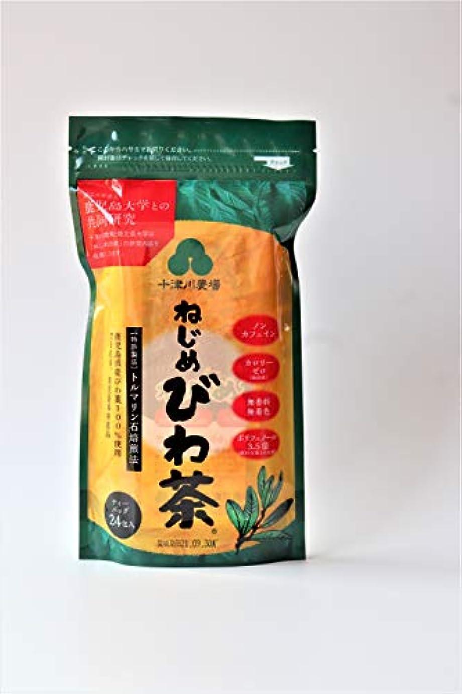 くびれた半円宴会十津川 ねじめ びわ茶24  2gx24袋