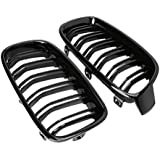 TOOGOO 1Pair Gloss Black Front Grille/Grilles Kidney for 3-Series F30 F31 F35 2012-2017 Car Styling