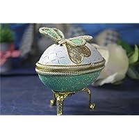 グリーントンボ 女の子のためのオルゴールイースターエッグ卵殻オルゴール Jewerlyボックスグリーントンボ 女の子のためのオルゴールイースターエッグ卵殻オルゴール Jewerlyボックス