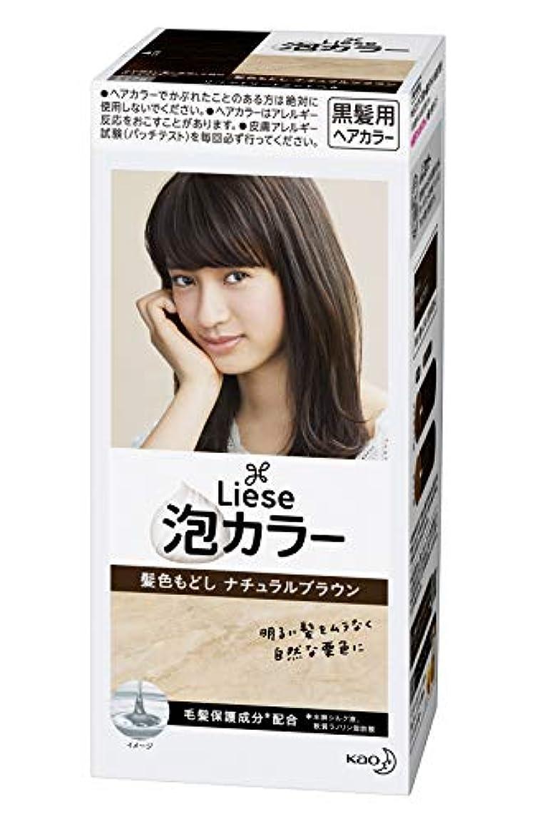 計算可能過剰サイドボードリーゼ プリティア 泡カラー 髪色もどしナチュラルブラウン 108ml