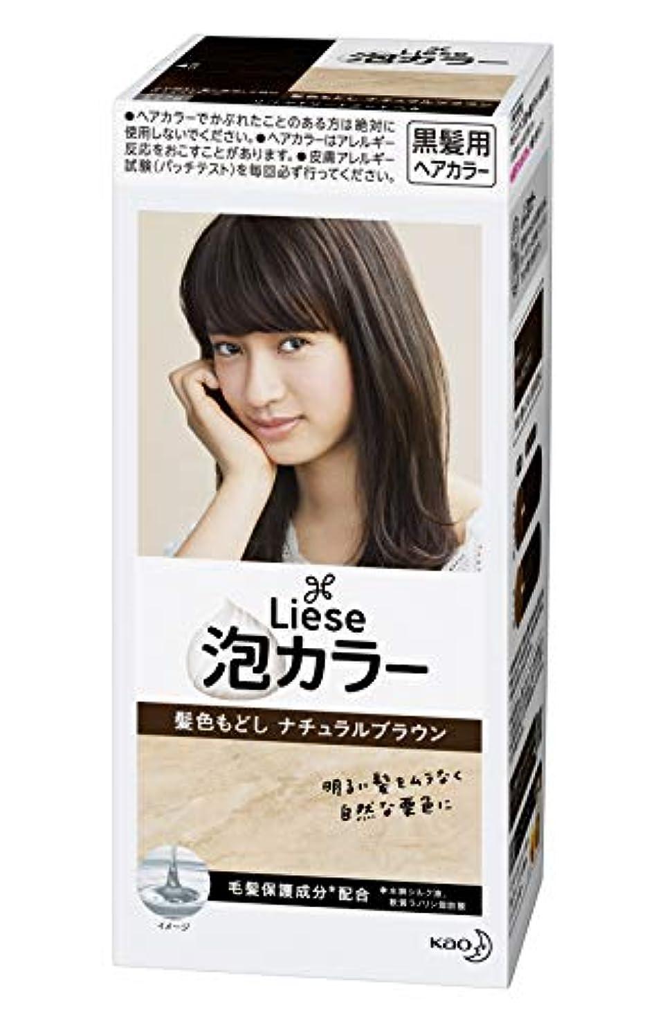 きらめくカーテン勧めるリーゼ プリティア 泡カラー 髪色もどしナチュラルブラウン 108ml