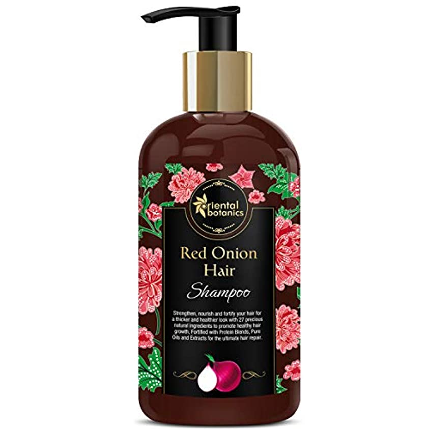 Oriental Botanics Red Onion Hair Growth Shampoo, 300ml - With 27 Hair Boosters Controls Hair Loss & Promotes Healthy...