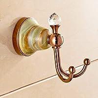 CKH ヨーロッパの銅のコートのフックローズゴールド象嵌の翡翠コートのフックブティックの浴室のハードウェアのペンダント