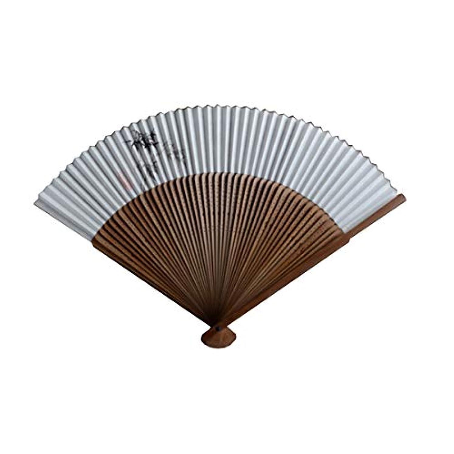 メガロポリスオートマトンピクニックをするKATH ファン、竹ファン、中国風扇子