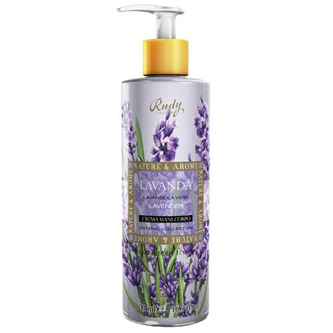 スポンジ救援結晶RUDY Nature&Arome SERIES ルディ ナチュール&アロマ Hand&Body lotion ハンド&ボディローション ラベンダー